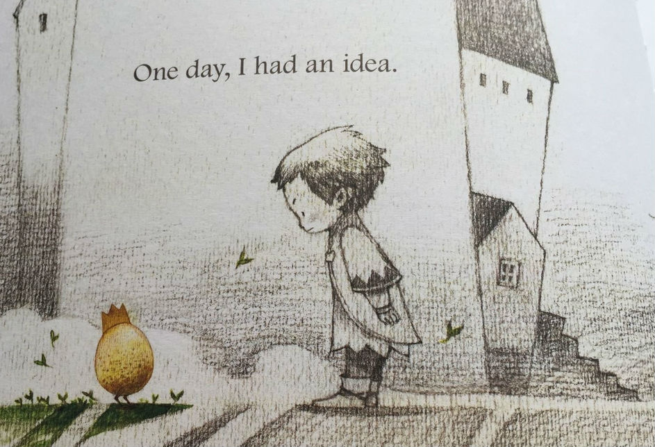 """Image of a page from the book """"What do you do with an idea?"""" by Kobi Yamada"""
